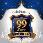 Celebrating 99 years anniversary — Stock Vector
