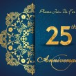 25 year anniversary celebration pattern — Stock Vector #62444457