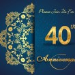 40 year anniversary celebration pattern — Stock Vector #62444535
