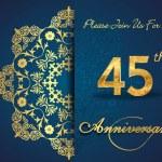 45 year anniversary celebration pattern — Stock Vector #62444577