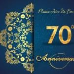 70 year anniversary celebration pattern — Stock Vector #62444729