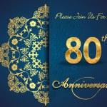 80 year anniversary celebration pattern — Stock Vector #62444803