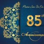85 year anniversary celebration pattern — Stock Vector #62444869