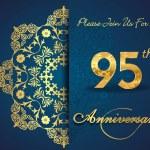95 year anniversary celebration pattern — Stock Vector #62445501