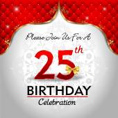 Celebrating 25 years birthday — Stock Vector