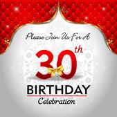 Celebrating 30 years birthday — Stock Vector