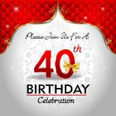 Celebrating 40 years birthday — Stock Vector