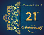 21 year anniversary celebration pattern — Vector de stock