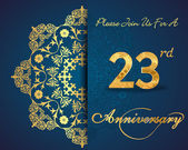 23 year anniversary celebration pattern — Vector de stock