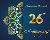 26 year anniversary celebration pattern — Vector de stock