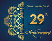 29 year anniversary celebration pattern — Vector de stock