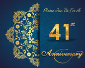 41 year anniversary celebration pattern — Vector de stock