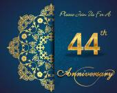 44 year anniversary celebration pattern — Stockvector