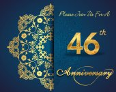 46 year anniversary celebration pattern — Stockvector
