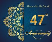 47 year anniversary celebration pattern — Stock Vector