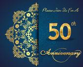 50 year anniversary celebration pattern — Stock Vector