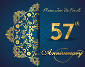 57 year anniversary celebration pattern — Vector de stock
