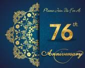 76 year anniversary celebration pattern — Stock Vector