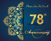 78 year anniversary celebration pattern — Vector de stock