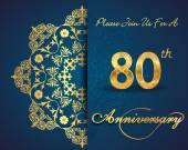 80 year anniversary celebration pattern — Vector de stock
