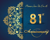 81 year anniversary celebration pattern — Vector de stock