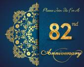 82 year anniversary celebration pattern — Vector de stock