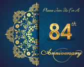 84 year anniversary celebration pattern — Stockvector
