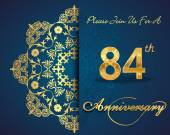 84 year anniversary celebration pattern — Vector de stock
