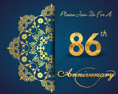 86 year anniversary celebration pattern — Vector de stock