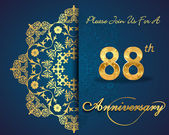 88 year anniversary celebration pattern — Vector de stock