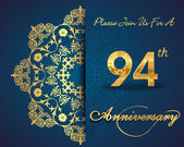 94 year anniversary celebration pattern — Vector de stock