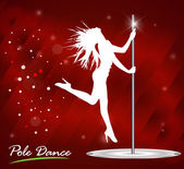 Silhouette of woman dancing striptease — Stock Vector