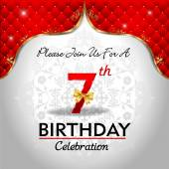 Celebrating 7 years birthday — Stock Vector