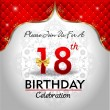 Celebrating 18 years birthday — Vector de stock  #62970293