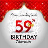 Celebrating 59 years birthday — Stock Vector