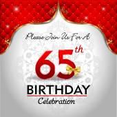 Celebrating 65 years birthday — Stock Vector