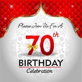Celebrating 70 years birthday — Stock Vector