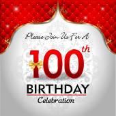 Celebrating 100 years birthday — Stock Vector