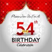 Celebrating 54 years birthday — Stock Vector