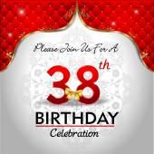 Celebrating 38 years birthday — Stock Vector