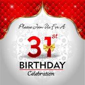 Celebrating 31 years birthday — Stock Vector