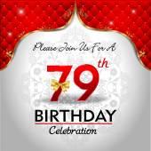 Celebrating 79 years birthday — Stock Vector