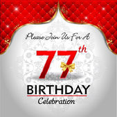 Celebrating 77 years birthday — Stock Vector