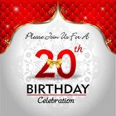 Celebrating 20 years birthday — Stock Vector