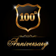 100 year anniversary golden label — Wektor stockowy  #65988743