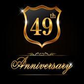 Label or anniversaire 49 ans — Vecteur