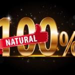 100 percent vector natural label — Stock Vector #67048215