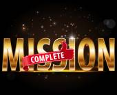 Mission complete text — Stock Vector