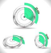 20 min-Timer, alarm zwanzig Minuten — Stockvektor