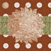 Collage background images from various brown plant natural patte — Vetor de Stock